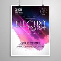 club party event layout flyer brochure template
