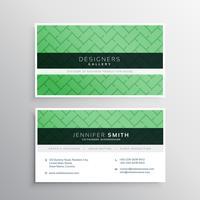elegante minimale grüne Visitenkarte mit geometrischem Formenrüttler