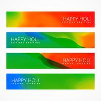 banners de holi feliz brilhante
