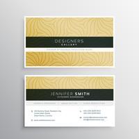 Plantilla de tarjeta de visita elegante con patrón abtract