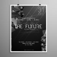 stylish minimal darl flyer template with event details