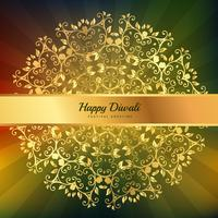 beautiful diwali greeting floral ornaments decoration vector des