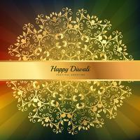 vacker diwali hälsning blommig ornament dekoration vektor des
