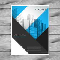 abstrakta geometriska former företags flygblad broschyr affischdesign