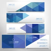 abstract header and business card set