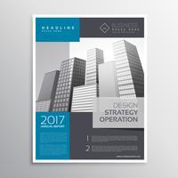design de modelo de folheto de folheto de empresa em tamanho a4