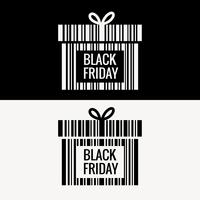 diseño de caja de regalo de viernes negro