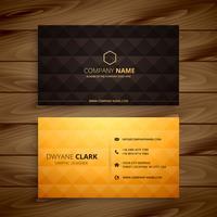 premium diamond shape golden business card template vector desig