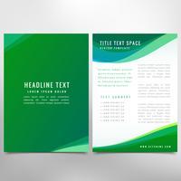 folleto de negocios verdes