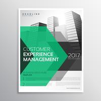 Flecha verde moderna plantilla de diseño de folleto para su negocio