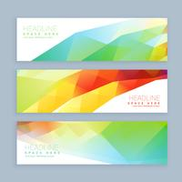 colorful abstract header and banners
