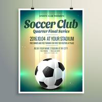 soccer cup final series flyer template