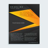 présentation de brochure d'affaires noir et jaune