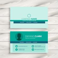 business card modern template vector design illustration