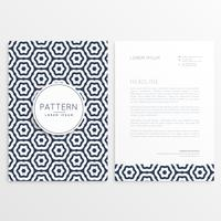 corporate letterhead template with pattern shape