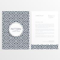 sjabloon voor bedrijfs briefhoofden met patroonvorm
