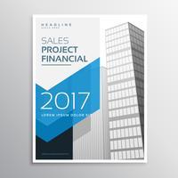 Diseño de plantilla de folleto o folleto de negocio de 2017 con arro azul
