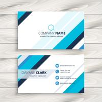 modern business card with blue stripes template vector design il