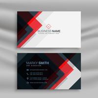Vector de diseño de plantilla de tarjeta de visita creativa roja y negra