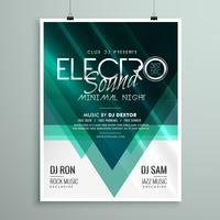 schöne Electro Club Party Flyer Vorlage Design