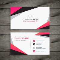 abstract business card vector design illustration