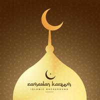 golden mosque shape design