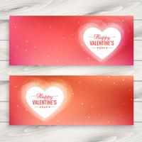 valentines day love banners vector design illustration