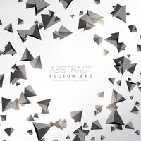 abstract 3d triangle shapes background
