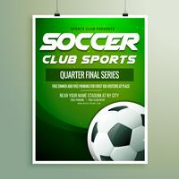 soccer club sports championship flyer template