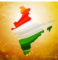 Karte von Indien in strukturiertem altem Hintergrundvektordesign illustrati