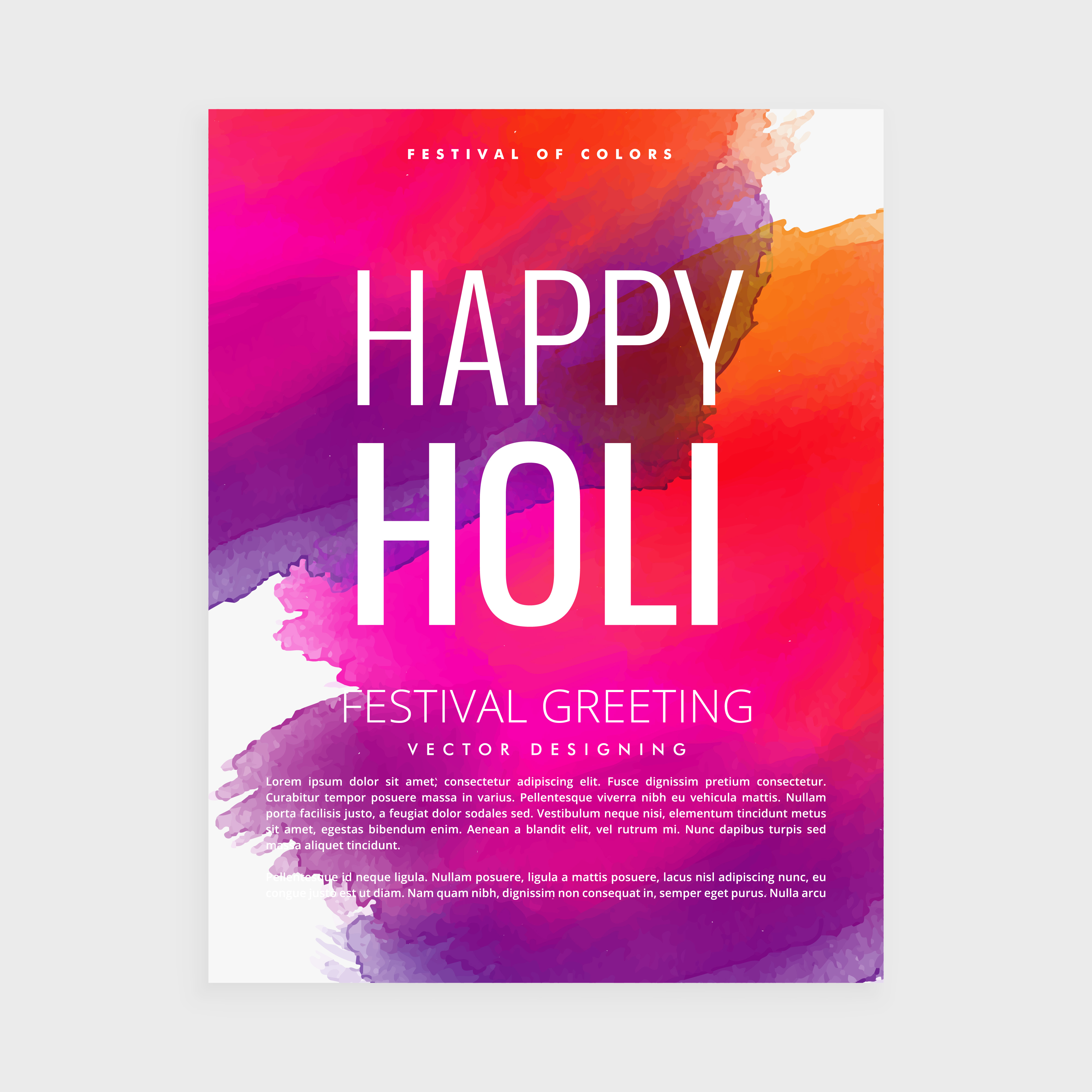 happy holi paint poster - Download Free Vector Art, Stock Graphics ...