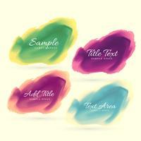 bläck vattenfärg fläck vektor design illustration