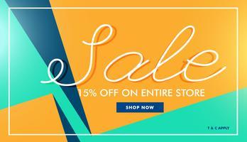 modern sale banner in minimal style