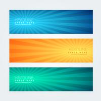 set of colorful modern banners