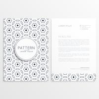 minimal elegant letterhead design with front and back sides