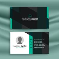 stylish modern business card in white, blue and black color
