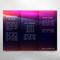 dark trifold brochure