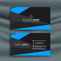 modern blue and black dark business card