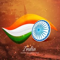 vieux papier drapeau indien vector design illustration