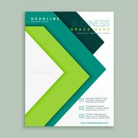 modelo de design de folheto comercial de estilo de flecha verde elegante