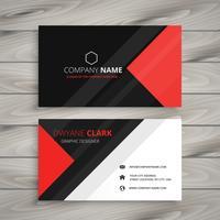 rojo negro tarjeta de visita corporativa plantilla vector diseño illustr