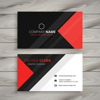 red black corporate business card template vector design illustr