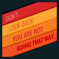 poster of motivational quotation with orange stripes
