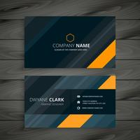 elegant dark business card template vector design illustration
