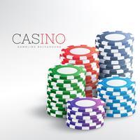 färgstarka casino chips vektor bakgrund