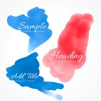 färgglada vattenfärg fläckar av bläck vektor design illustration