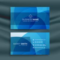 modern abstract blue busienss card design
