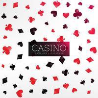 fundo de cassino com elementos de cartão de poker