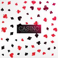 casino background with poker card elements