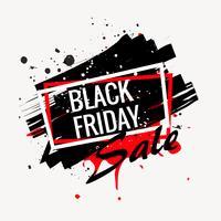cartaz de venda sexta-feira negra abstrata